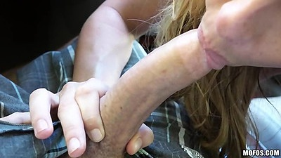 Excited busty female lifeguard sucks off dude in car Corinna Blake