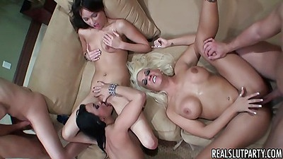 Sexy college sluts get fucked during farewell