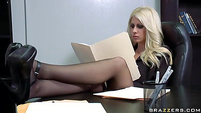 Big tits at work from Jazy at HR