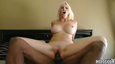 Reverse cow girl fucking a big black cock