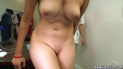 Jessi agrees for a little nude hand job at work