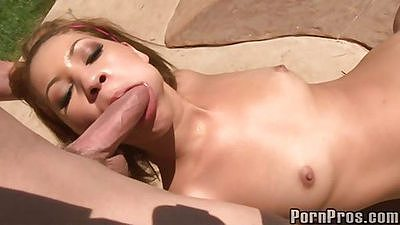 Esmi lee shaved pussy and semen on face