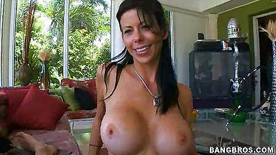 Alexis Fawx a super fine sporty milf getting naked