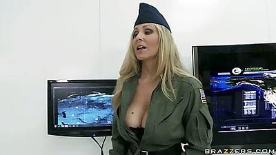 Big tits in uniform Julia and army women