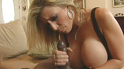 Hot big tits milf gives a nice lubed titty fuck and ass spread