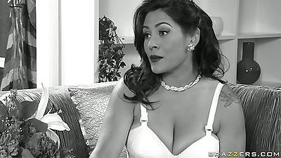 Hot big tits milf gives daughters bf a lesson