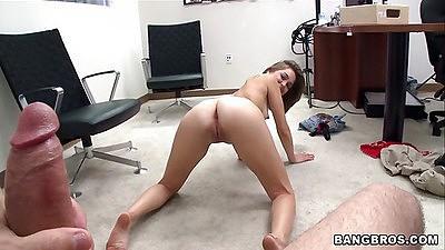 Paige Riley sucking big dick pov style