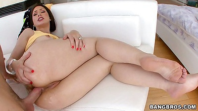 Close up anal fucking Sarah Shevon and gaping