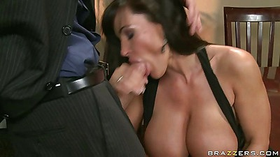 House wife milf Lisa gets abused on the table