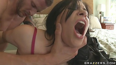 Cop makes Rebeca take off underwear and open anus
