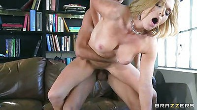 Doggy style penetration in the office with big tits Krissy Lynn