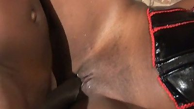 Close up fetish ebony babe Lady Armani gets nailed