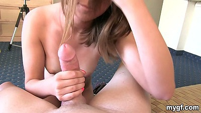 Amateur gf Ariel Lee sucking some cock and doggy style hard