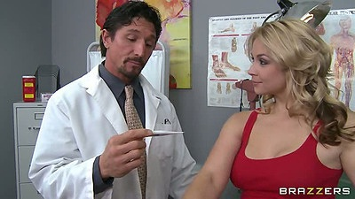 Sarah Vandella visiting the doctor and getting pussy double examined