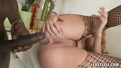 Sideways and front interracial sex with Sophie Dee
