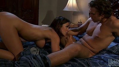 Blowjob from big tits Kirsten Price and hardcore sex