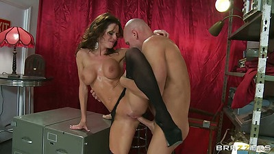 Big tits milf Veronica Avluv fucked on a file cabinet