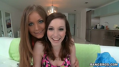 Mercedes Lynn and Diamond Kitty on lesbian lingerie party