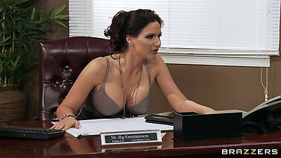 Office with busty milf sluts
