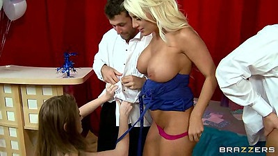 Jacky Joy and Faye Reagan are big tits at school