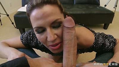 Big dick pov blowjob starring milf Inari Vachs