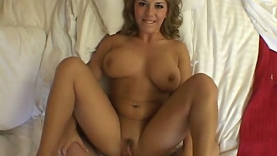 Big natural tits Allie Foster smiles while getting cock entered