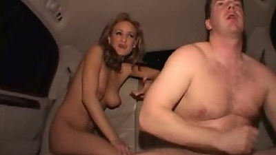Slut Lee Ann in the backseat reverse cowgirl sex while driving