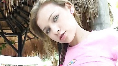 18 year old lesbian Selina18 and her friend fingering each other and self oudoors