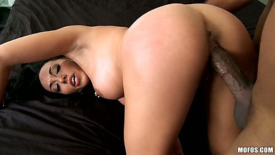 Doggy style milf ass fucking with Rio Lee and black dick