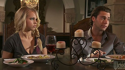 Dinner time with Britney Young and some making out in bed