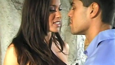 Brunette Charlie blowjob outdoors and licked out
