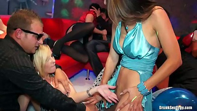 Fingering chick at a party with no panties under her dress
