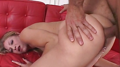 Rear entry doggy anal fuck from Leah Luv with reverse cowgirl close up