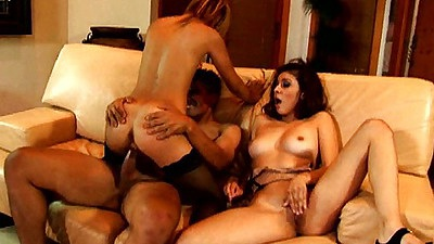 Cowgirl latina group fuck with Kat and Chanel Chavez