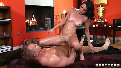 Dillion Harper oil massage sex with sexy on and only Dillion Harper
