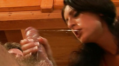 Wet cum dripping blowjob with latina Lucious Lopez