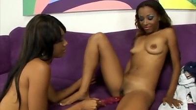 Sexy toys petite ebony lesbian girls playing