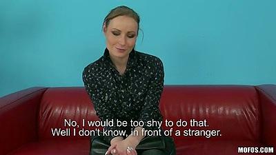 Amateur Petra bras and panties interview undressing