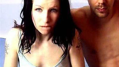 Amateur gf couple webcam sex with dee throat