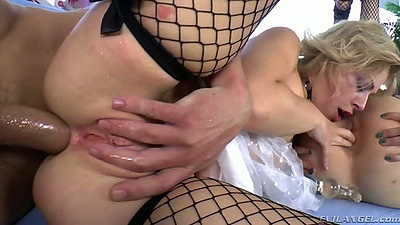 Dana DeArmond and Zoey Monroe enjoy gaping anal fuck with ass fingering and ass to mouth cock clean