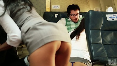 Cindy Starfall and Kaylani Lei with London Keyes and Asa Akira going for a plane ride orgy