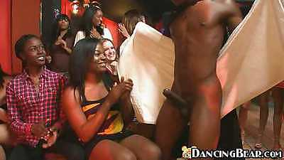 Black dick male stripper and hungry women