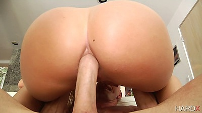 Big ass slut with anal for her butt in rough sex AJ Applegate