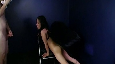 Asian slut on a chair gets a photo shoot and poses all nude