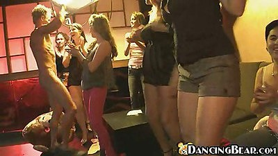 Dancing bear some nice blowjobs from different girls