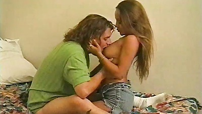 Classic teen Gauge gets fingered and blowjob