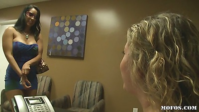 Hot busty milf comes over to the doctors office