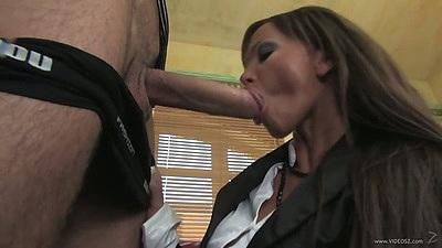 Big dick blowjob and pulled aside panties fucking Christine Roberts