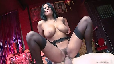 Reverse cowgirl busty and hairy whore Anissa Kate