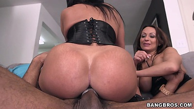Big black cock and latina threeway action with Vanessa Luna and Becca Diamond